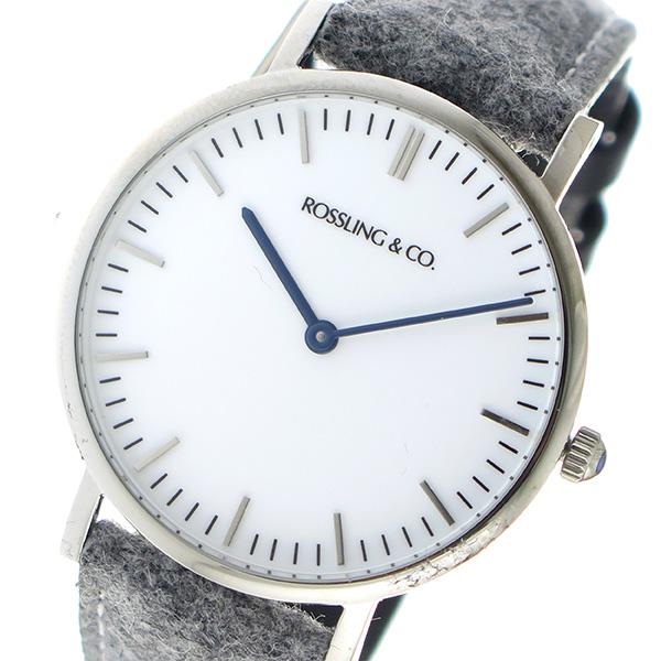ROSSLING ロスリング CLASSIC 36MM Stirling クオーツ ユニセックス 腕時計 RO-005-006 ライトグレー/ホワイト【送料無料】