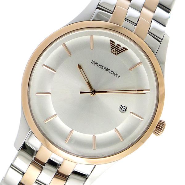 エンポリオ アルマーニ EMPORIO ARMANI クオーツ メンズ 腕時計 AR11044 シルバー【送料無料】