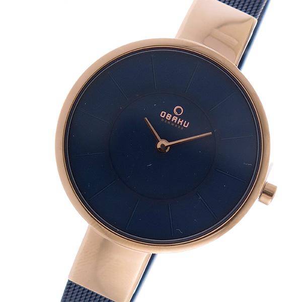 オバク OBAKU クオーツ ユニセックス 腕時計 V149LXVLML ネイビー【送料無料】