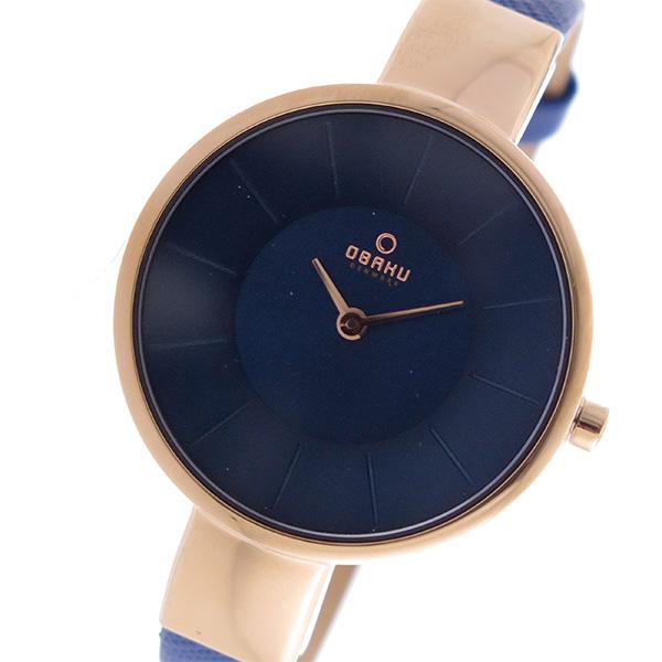 オバク OBAKU クオーツ ユニセックス 腕時計 V149LXVLRA ネイビー【送料無料】