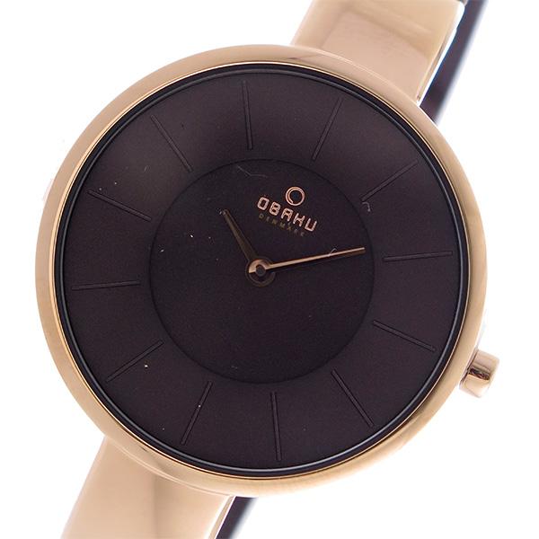 オバク OBAKU クオーツ ユニセックス 腕時計 V149LXVNMN ブラウン【送料無料】