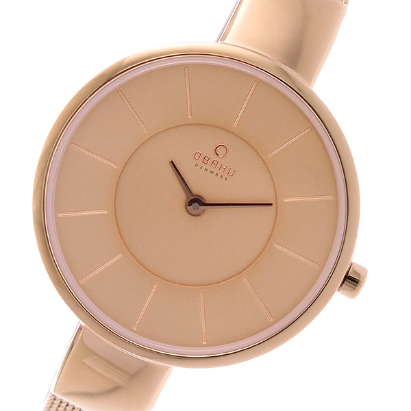 オバク OBAKU クオーツ ユニセックス 腕時計 V149LXVVMV ピンクゴールド【送料無料】
