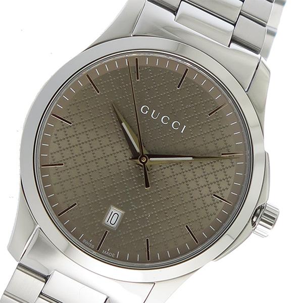 グッチ GUCCI Gタイムレス クオーツ メンズ 腕時計 YA1264053 ブラウン【送料無料】