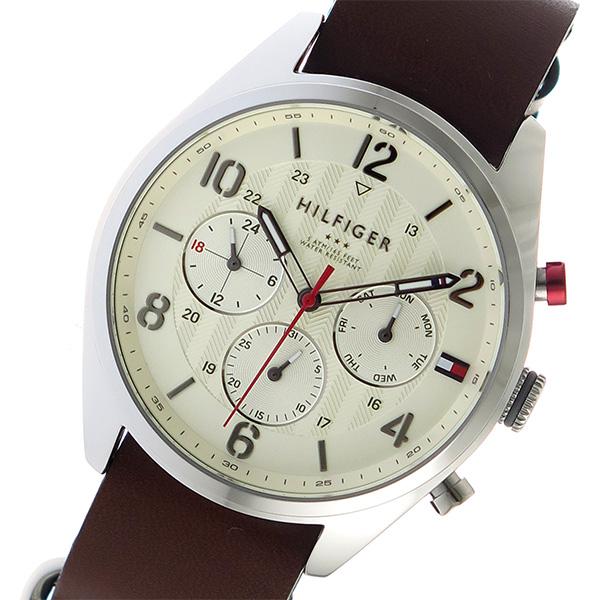 トミーヒルフィガー TOMMY HILFIGER クオーツ メンズ 腕時計 1791188 オフホワイト【送料無料】