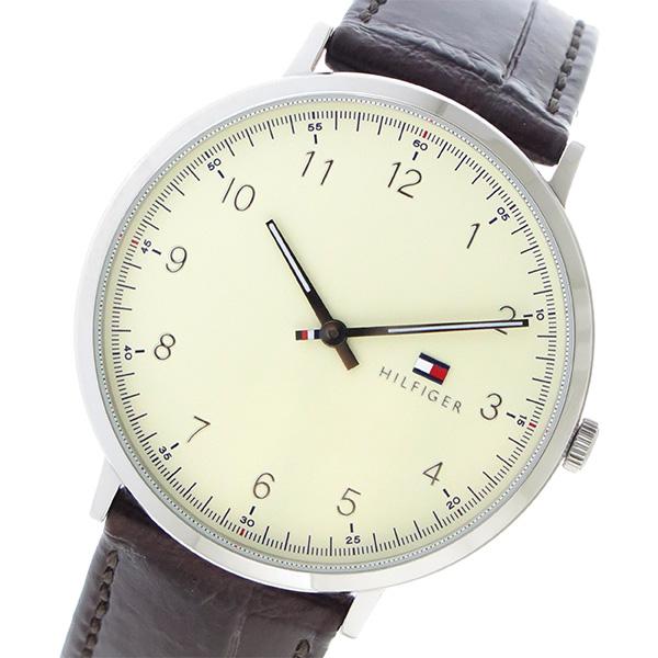 トミー ヒルフィガー TOMMY HILFIGER クオーツ メンズ 腕時計 1791338 アイボリー【送料無料】