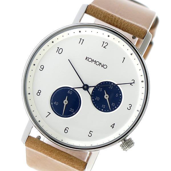 コモノ KOMONO Walther クオーツ ユニセックス 腕時計 KOM-W4000 ホワイト【】【楽ギフ_包装】