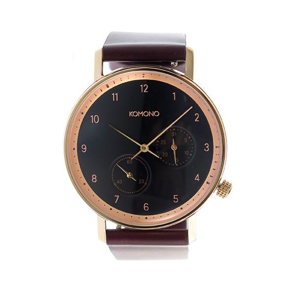 コモノ KOMONO Walther クオーツ ユニセックス 腕時計 KOM-W4003 ブラック【】【楽ギフ_包装】