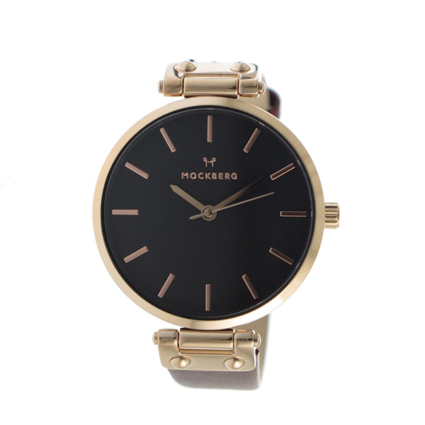 モックバーグ MOCKBERG クオーツ レディース 腕時計 MO115 ブラック【】【楽ギフ_包装】