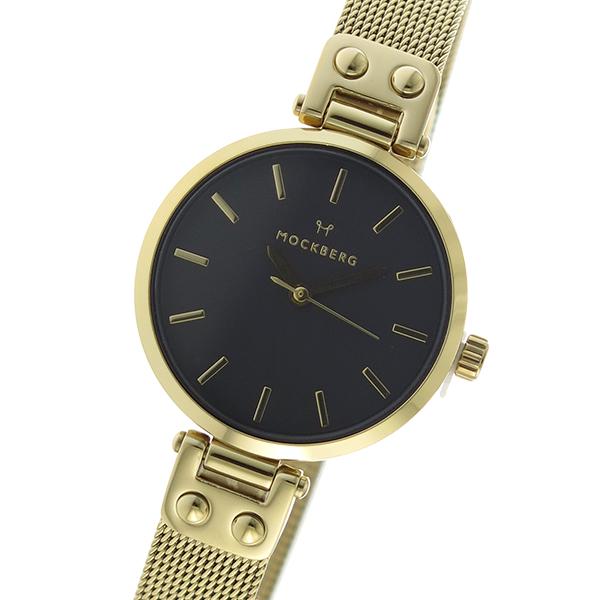 モックバーグ MOCKBERG クオーツ レディース 腕時計 MO403 ブラック【】【楽ギフ_包装】