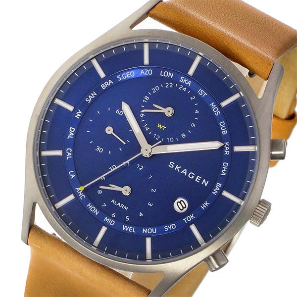 スカーゲン SKAGEN ホルスト HOLST ワールドタイム クオーツ メンズ 腕時計 SKW6285 ブルー【送料無料】