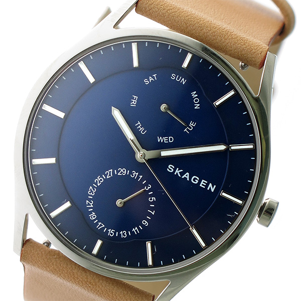 スカーゲン SKAGEN クオーツ メンズ 腕時計 SKW6369 ネイビー/キャメル【送料無料】
