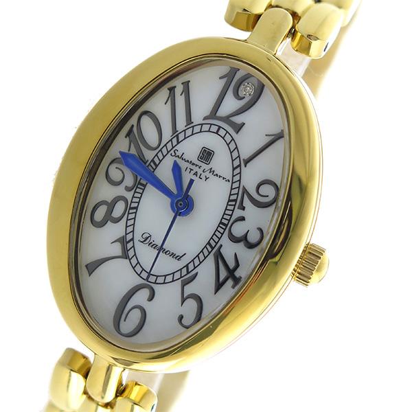 サルバトーレマーラ SALVATORE MARRA クオーツ レディース 腕時計 SM17152-GDWH ホワイトシェル