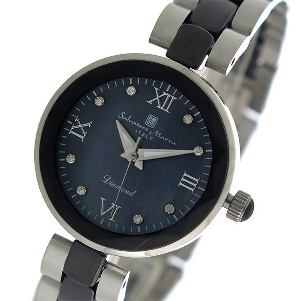 サルバトーレマーラ SALVATORE MARRA クオーツ レディース 腕時計 SM17153-SSBKR ブラックシェル【】【楽ギフ_包装】