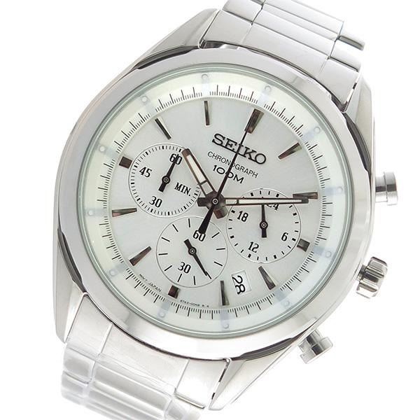 セイコー SEIKO クロノ クオーツ メンズ 腕時計 SSB085P1 シルバー【送料無料】