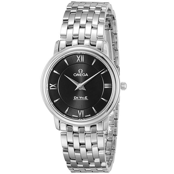 オメガ OMEGA デ・ビル クオーツ レディース 腕時計 424.10.27.60.01.001 ブラック【送料無料】