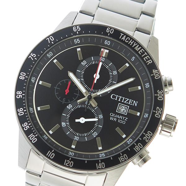 シチズン CITIZEN クオーツ メンズ 腕時計 AN3600-59E ブラック【送料無料】