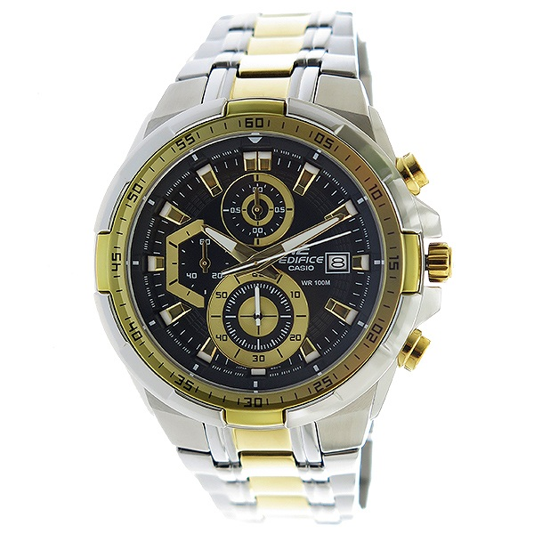 カシオ CASIO エディフィス EDIFICE クロノ クオーツ メンズ 腕時計 EFR-539SG-1AV ブラック