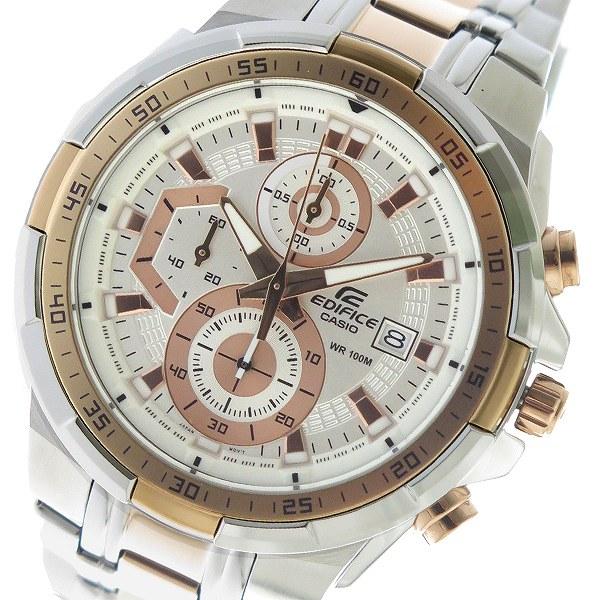 カシオ CASIO エディフィス EDIFICE クロノ クオーツ メンズ 腕時計 EFR-539SG-7A5V ホワイト【送料無料】