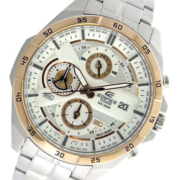 カシオ CASIO エディフィス EDIFICE クロノグラフ クオーツ メンズ 腕時計 EFR-556DB-7AV ホワイト【送料無料】