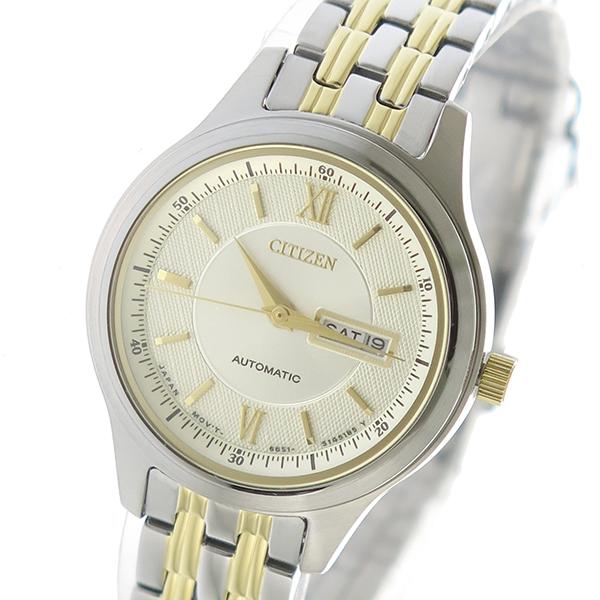 シチズン CITIZEN 自動巻き レディース 腕時計 PD7156-58P アイボリー【送料無料】