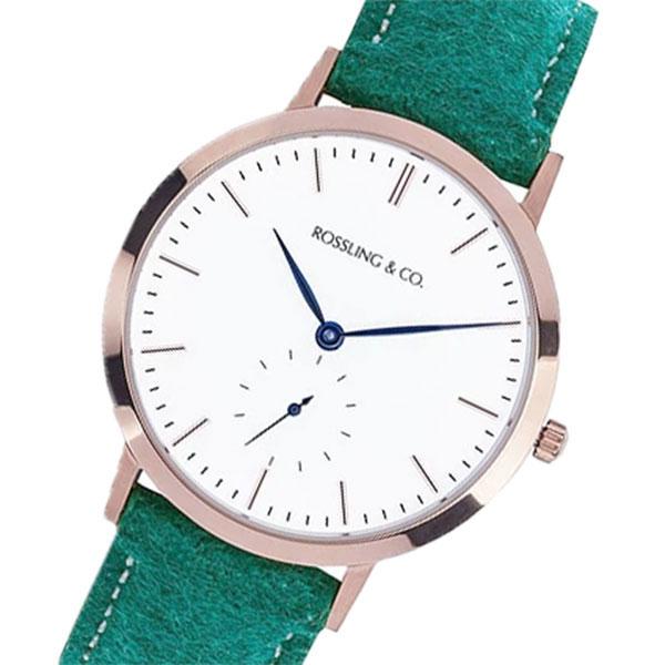 ROSSLING ロスリング MODERN 36MM Greenock クオーツ ユニセックス 腕時計 RO-003-009 グリーン/ホワイト【】【楽ギフ_包装】