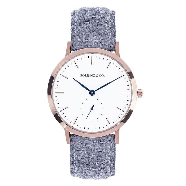 ROSSLING ロスリング MODERN 36MM Stirling クオーツ ユニセックス 腕時計 RO-003-014 ライトグレー/ホワイト【】【楽ギフ_包装】