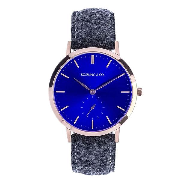 ROSSLING ロスリング MODERN 36MM GLENCOE レディース 腕時計 RO-003-015 ダークグレー/ブルー【】【楽ギフ_包装】