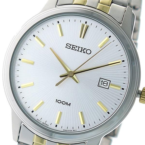 セイコー SEIKO クオーツ メンズ 腕時計 SUR263P1 シルバー/シルバー×ゴールド【送料無料】