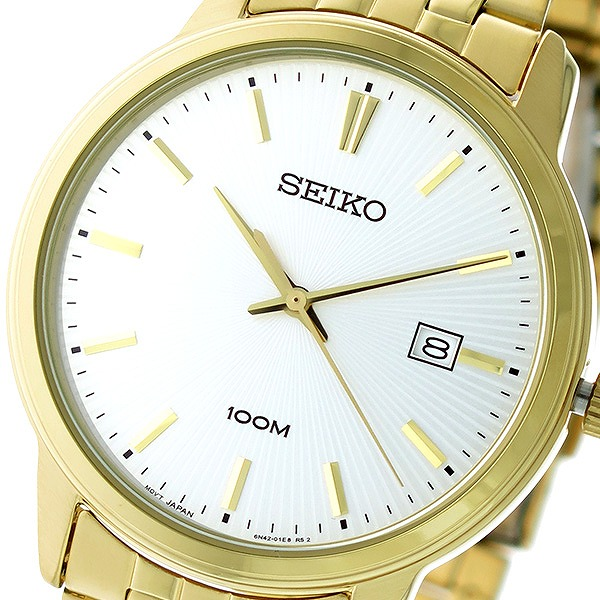セイコー SEIKO クオーツ メンズ 腕時計 SUR264P1 シルバー/ゴールド【送料無料】