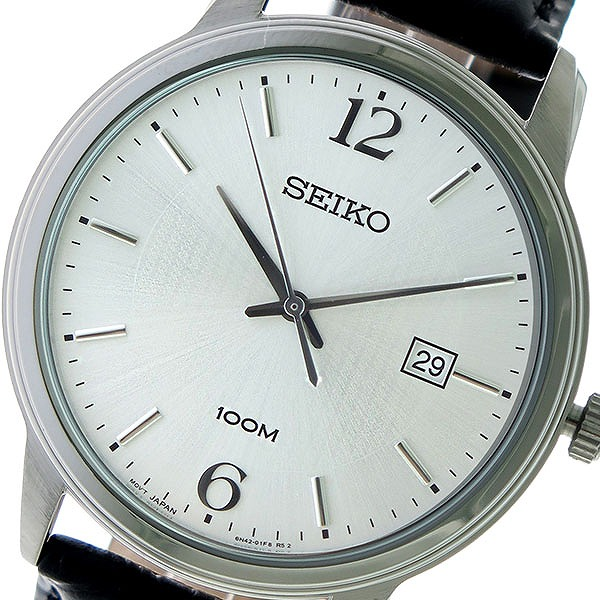セイコー SEIKO クオーツ メンズ 腕時計 時計 SUR265P1 シルバー/ブラック