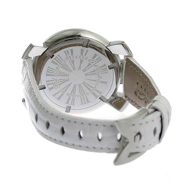 ガガミラノ GAGA MILANO 40mm クオーツ ユニセックス 腕時計 50208-WHT-NEW シェル【】【楽ギフ_包装】