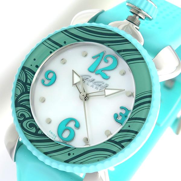 ガガミラノ GaGaMILANO レディスポーツ クオーツ レディース 腕時計 7020.04 ホワイト/ライトブルー【送料無料】