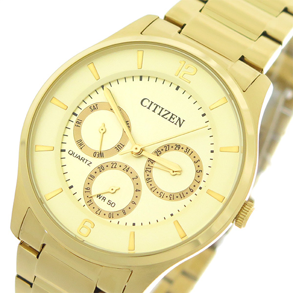 シチズン CITIZEN   クオーツ メンズ 腕時計 AG8353-81P シャンパンゴールド/ゴールド【】【楽ギフ_包装】