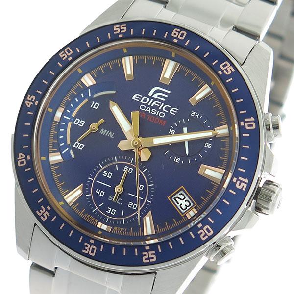 カシオ CASIO エディフィス EDIFICE クロノ クオーツ メンズ 腕時計 時計 EFV-540D-2A ネイビー/シルバー