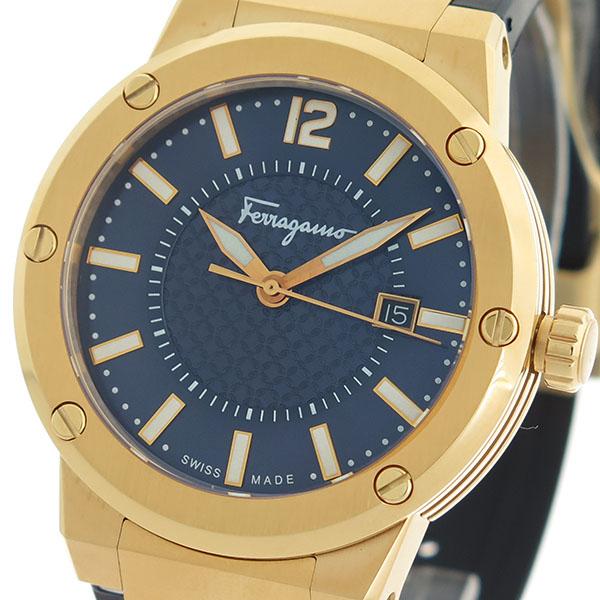 サルヴァトーレ フェラガモ Salvatore Ferragamo F-80 クオーツ メンズ 腕時計 FIF050015 ネイビー/ブラック【送料無料】