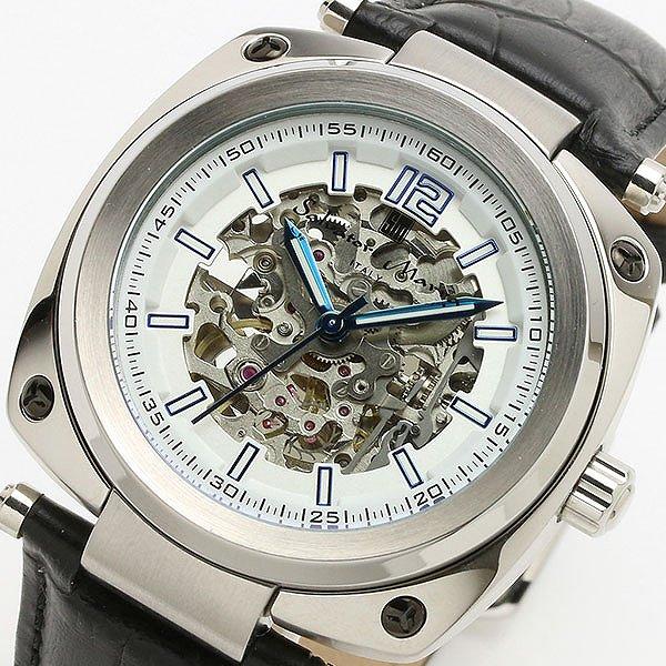 サルバトーレマーラ SALVATORE MARRA 自動巻き メンズ 腕時計 SM18114-SSWH ホワイト/ブラック【送料無料】