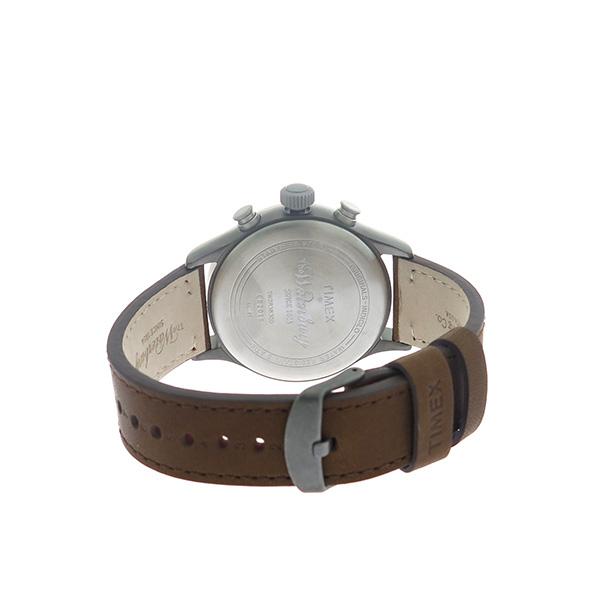 タイメックス TIMEX ウォーターベリー Waterbury クロノ クオーツ メンズ 腕時計 TW2R38300 グレー/ブラウン【】【楽ギフ_包装】