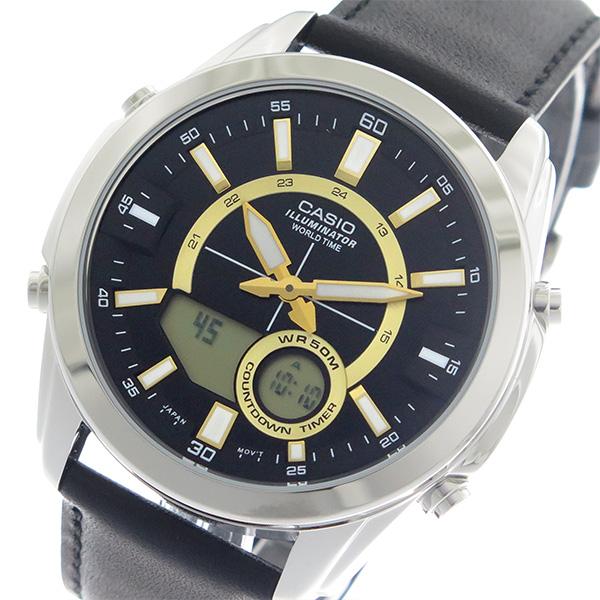 【希少逆輸入モデル】 カシオ CASIO クオーツ メンズ 腕時計 時計 AMW-810L-1A ブラック/ブラック