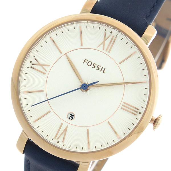 フォッシル FOSSIL クオーツ レディース 腕時計 ES3843 ホワイトシルバー/ネイビー