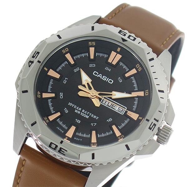 【希少逆輸入モデル】 カシオ CASIO クオーツ メンズ 腕時計 時計 MTD-1085L-1A ブラック/ライトブラウン