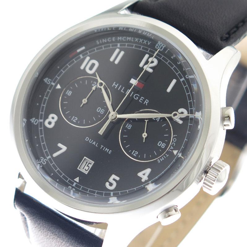 トミーヒルフィガー TOMMY HILFIGER 腕時計 メンズ 1791388 ブラック【送料無料】