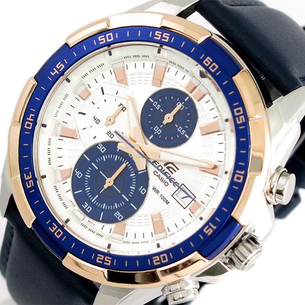 カシオ CASIO エディフィス EDIFICE 腕時計 メンズ EFR-539L-7CV クォーツ シルバー ネイビー【送料無料】