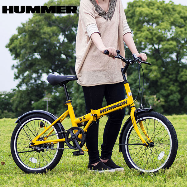 ハマー HUMMER 自転車 MG-HM20R イエロー 代引き不可【送料無料】