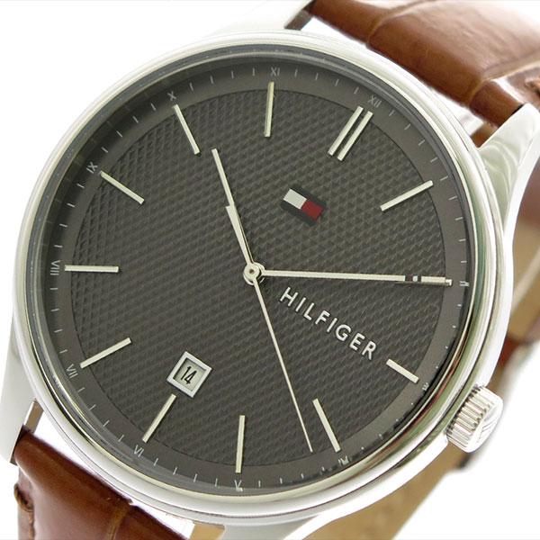 トミーヒルフィガー TOMMY HILFIGER 腕時計 メンズ 1791492 クォーツ ブラック ブラウン【送料無料】