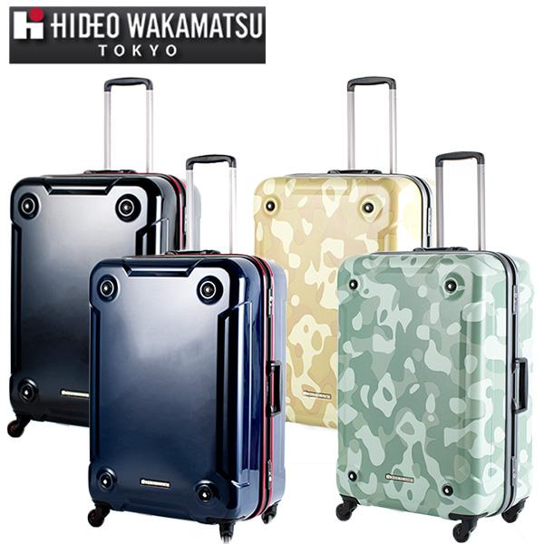 ヒデオワカマツ HIDEO WAKAMATSU スーツケース 85-76408 スタックII 92L カモグリーン 代引き不可【送料無料】