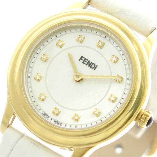フェンディ FENDI 腕時計 レディース F250424541D1 クラシコラウンド クォーツ ホワイトパール ホワイト【送料無料】