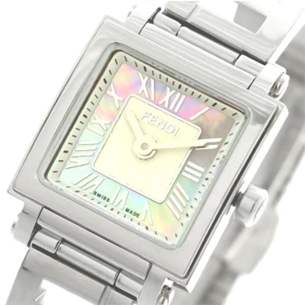 フェンディ FENDI 腕時計 レディース F605027500 クアドロミニ QUADOROMINI クォーツ ピンクパール シルバー【送料無料】