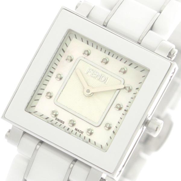 フェンディ FENDI 腕時計 レディース F622240BD セラミック CERAMIC クォーツ ホワイトパール ホワイト【送料無料】