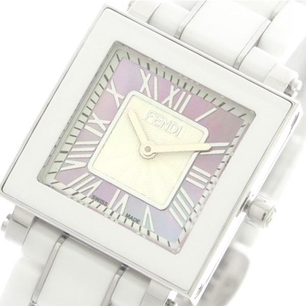 フェンディ FENDI 腕時計 レディース F622270 セラミック CERAMIC クォーツ ピンクパール ホワイト【送料無料】