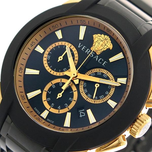 ヴェルサーチ VERSACE 腕時計 メンズ VEM800418 クォーツ ブラック ゴールド【送料無料】